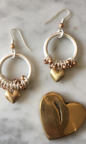 sweet hearts earrings