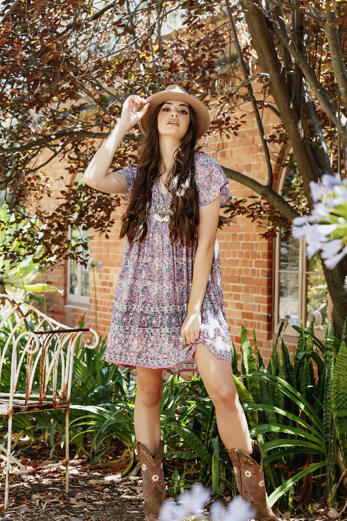 lily mini dress - Lavender