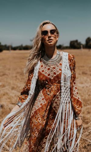 Woodstock Crotchet Vest